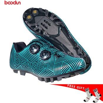 2019 Boodun NOVOS Sapatos de Ciclismo MTB Bicicleta Sapatos Não-Deslizamento Sapatos de Corrida De Bicicleta Respirável Profissional Auto-Bloqueio DOS HOMENS TAMANHO 39-45