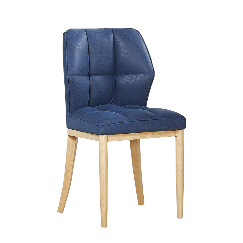 Simple Dining Chair Home Frosted Leather Negotiation Chair Back Nordic Soft Bag Restaurant Hotel Chair