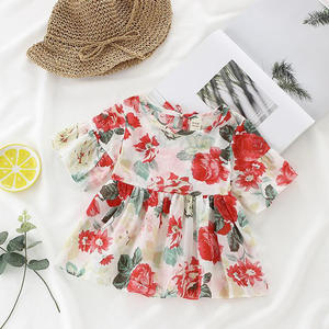 Baby Shirt Cotton Summer New Fashion Dress Top-Tee Pretty Special-Retroblouse One-Piece