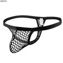 Jockstrap String Slip Transparent Thong Erotic-G Gay Sexy Men Man Big Cueca 1pcs Fishnet