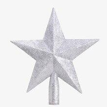 5,9 дюймов Горячая Золотая пудра Рождественская звезда Рождественская елка украшения Рождественская елка украшение Рождественская елка звезда