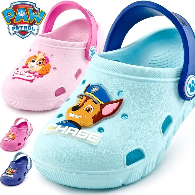 Genuine Paw Patrol Fashion New Summer Kids Cave Shoes Boys Girls Chase Skye Sandals 2 Wear Antiskid Slippers Beach Children Toy