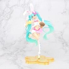 24cm Anime Pink Hatsune Miku Sakura Action Figures Toys Miku Speelgoed Girls PVC Figure Model Toys xinduplan hatsune miku stronger kimono yukata fancy clothes 1 8 box pvc action figure toys collection model 25cm 1107