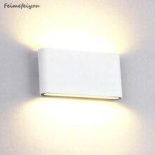 Su geçirmez dış duvar lambası 6W 12W LED kaynağı yukarı ve aşağı aydınlatma Modern Minimalist kapalı mühendislik sundurma bahçe lambası
