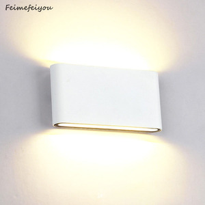 Image 1 - Waterproof Outdoor Wall Lamp 6W 12W LED Source Up And Down Lighting Modern Minimalist Indoor Engineering Porch Garden Light