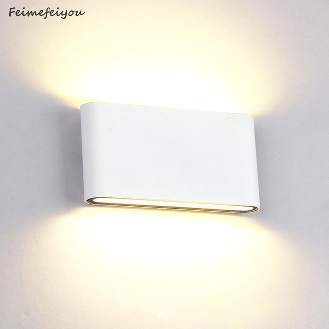 Waterproof Outdoor Wall Lamp 6W 12W LED Source Up And Down Lighting Modern Minimalist Indoor Engineering Porch Garden Light