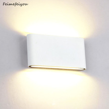 Lighting Modern Wall-Lamp Minimalist Porch Outdoor Waterproof 6W Engineering 12W Led-Source-Up-And-Down