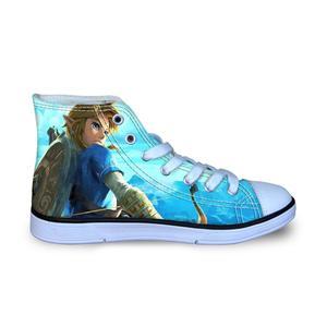 Детская обувь для бега для мальчиков; Zelda; Кроссовки с высоким берцем; Парусиновая обувь; Уличная спортивная обувь; Повседневная обувь для ма...