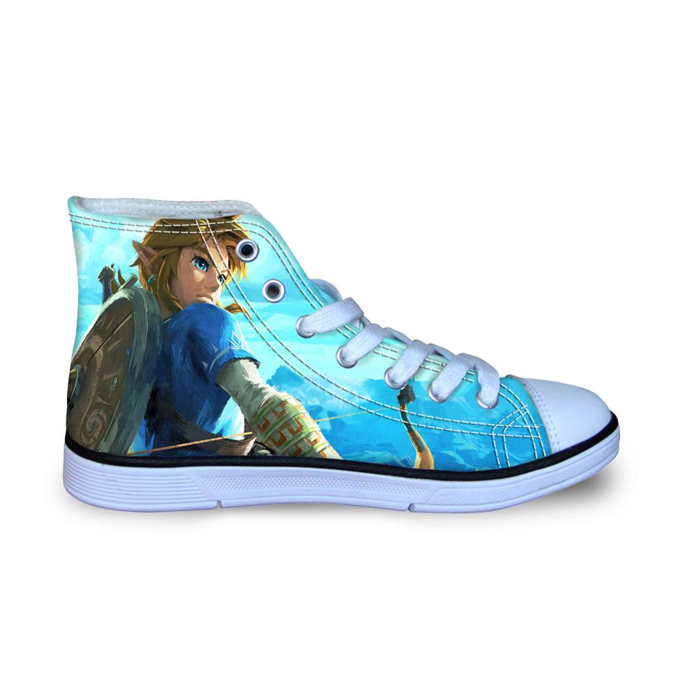 Children Running Shoes For Kids Boys Zelda Sneakers High Top Canvas Shoes Outdoor Sports Shoes Toddler Child Casual Shoes 16M