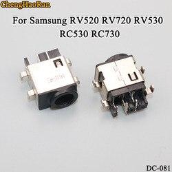 ChengHaoRan 2 pçs/lote Para Samsung RV520 RV720 RV530 RC530 RC730 DC Tomada de Energia Conector Tomada De Carga Buraco Cabeça DC
