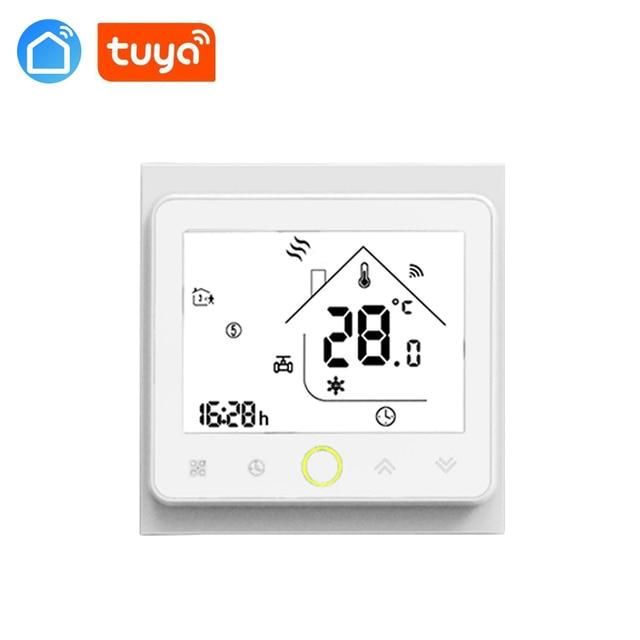 Termostat TUYA wifi, programowalny Regulator temperatury sterowanie ręczne do termostatu głowicy zaworu elektrycznego