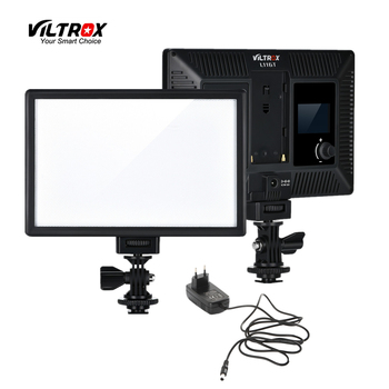 цена на Viltrox L116T Camera LED video light LCD Display Bi-Color & Dimmable Slim DSLR + AC power Adapter for Canon Nikon DV Camcorder