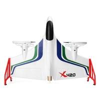 X420 FPV 3D вертикальный взлет летательный аппарат передатчик для игрушек Дрон мини открытый RC самолет посадка дети EPP 2,4G 6CH Аэробика
