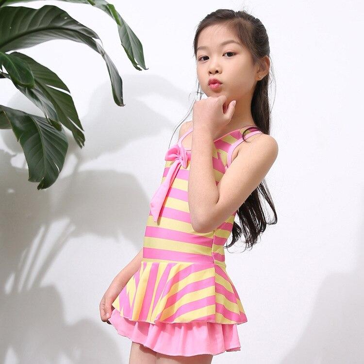 Korean-style Creative-Big Boy Dress-GIRL'S Students 2-10-Year-Old KID'S Swimwear GIRL'S Swimsuit