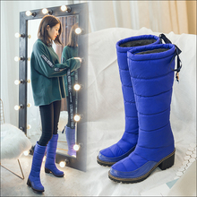 Winter Shoes Bottes Snow-Boots Lace-Up Women Platform Thick Waterproof Ladies Girls Femmes