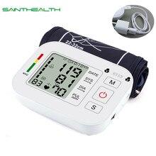 ציוד רפואי Tonometer דיגיטלי עליון זרוע Tensioner לחץ דם צג מדידת מטר מכשיר BP מד למדידת
