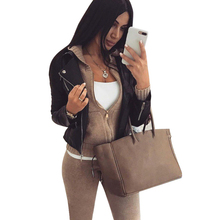 Mvgirlru女性のニットスーツ冬ウォームスーツジッパー付きカーディガンパンツ 2 枚セット女性のトラックスーツ