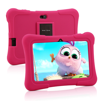 цена на PRITOM 7 inch Kids Tablet PC 1GB RAM 16GB ROM Android 9.0 Quad Core Tablets WiFi Bluetooth Dual Camera with Kids Tablet Case