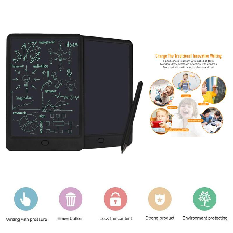 Writing Board Computer Peripherals Electronic Product Notepad Handwriting Tablet Black with Pen Comfortable Portable