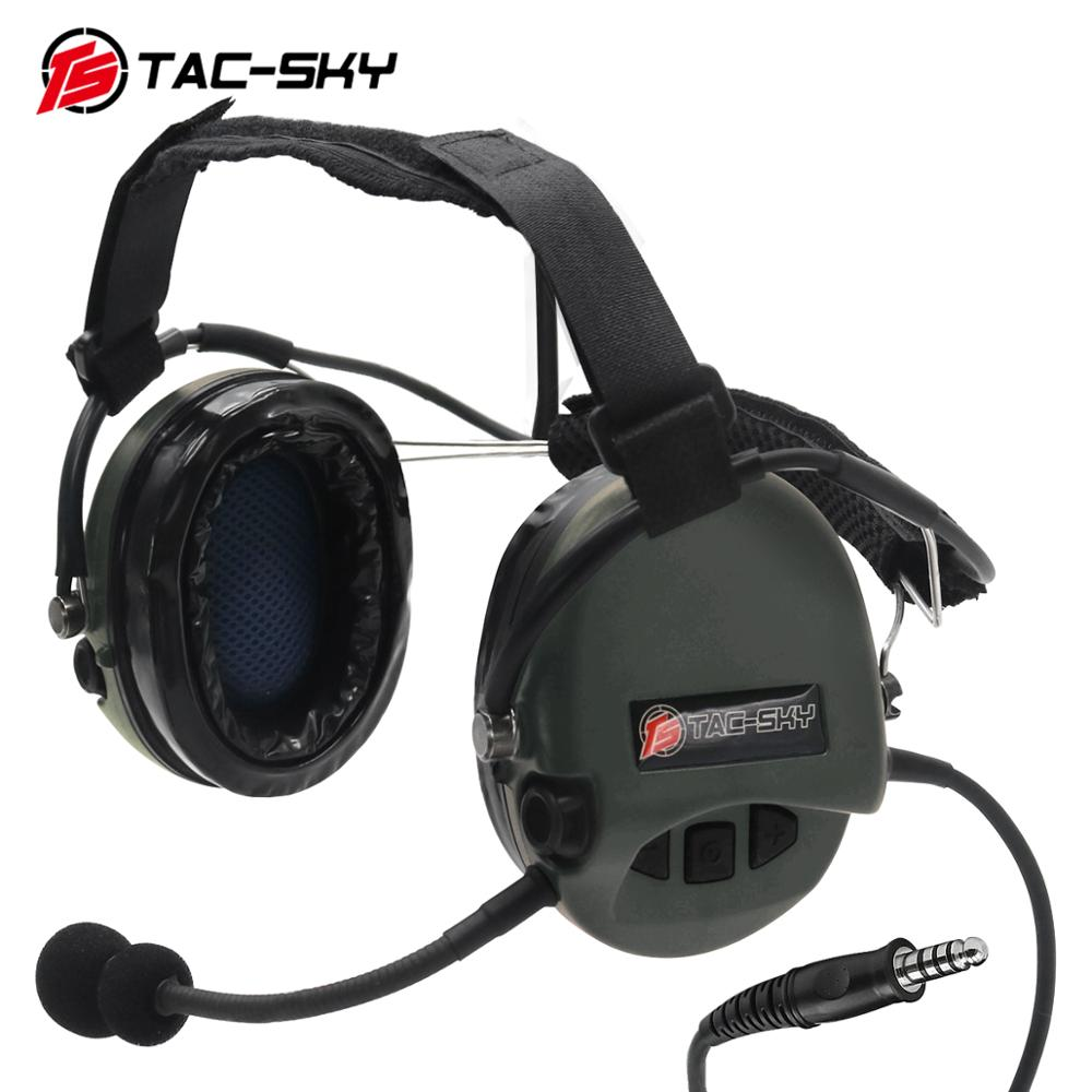 TAC-SKY TCI LIBERATOR II Softair Headphones SORDIN Silicone Earmuffs Noise Reduction Pickup Tactical Military Headphones FG