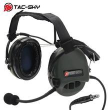 TAC SKY TCI LIBERATOR II Softair słuchawki SORDIN silikonowe nauszniki redukcja szumów Pickup taktyczne wojskowe słuchawki FG