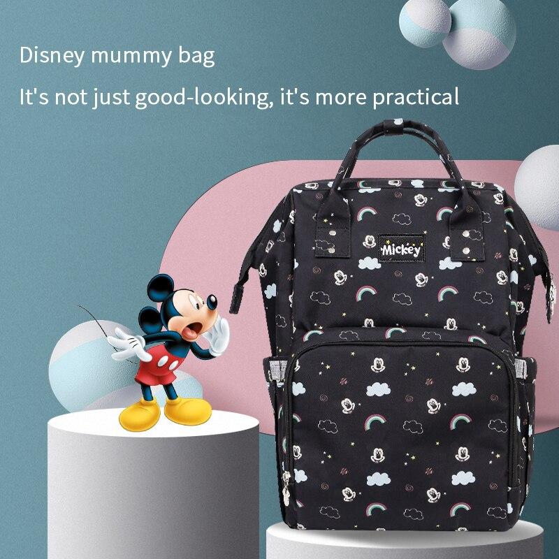 Disney coloré sac à couches sac à dos bébé organisateur bébé soins maman sacs pour maman Mickey voyage sacs à main pour poussette étanche