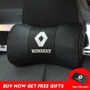 Image 1 - רכב צוואר כרית מושב עור אמיתי ראש כרית כריות שאר עבור רנו BMW טויוטה ניסן פולקסווגן מאזדה יונדאי הונדה Kia