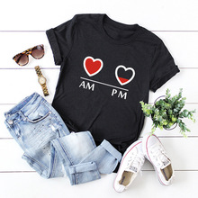 S-5XL Print T Shirts 100% Cotton Women Tshirt Tops O-Neck Short Sleeve Female Shirt Tee Tops Summer Loose Women T-shirts Top wotwoy casual cotton t shirt women short sleeve summer tops women embossing letter print tee shirt female loose t shirts women