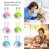 Children Feeding Tableware Fashionable Stainless Steel Bowls Water Cup Spoon Fork Set Household Infant Feeding Accessories