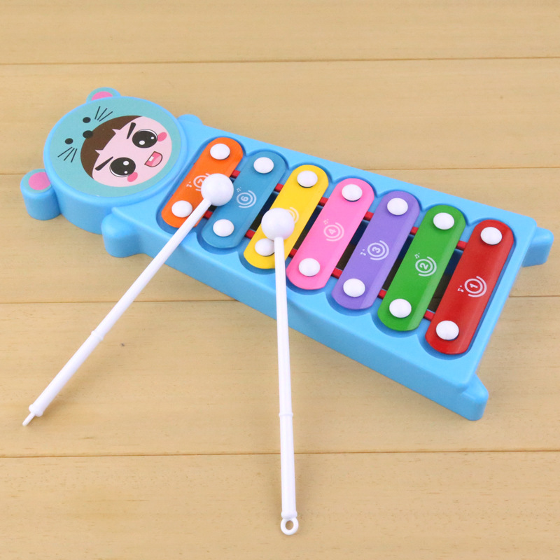 Children Cartoon Animal Head Knock Piano Infants Educational Music Toy Piano Chinese Zodiac Doll Toy