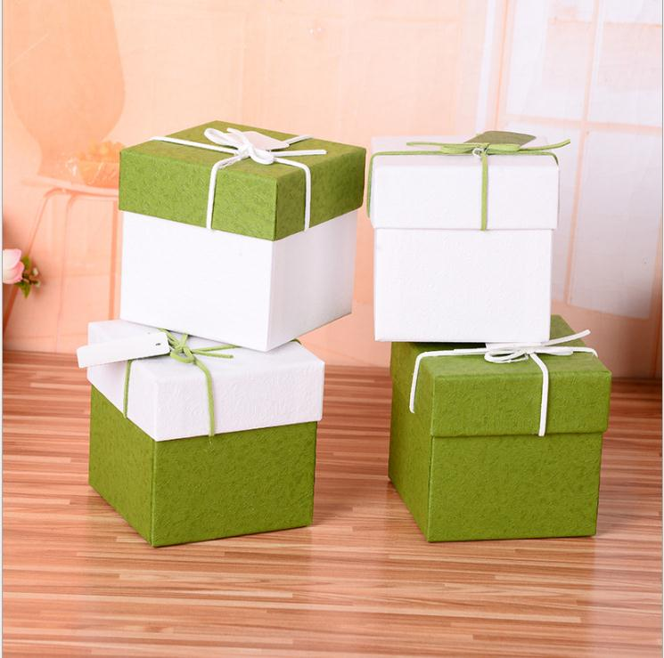 6pcs green white soap cardboard paper boxes,<font><b>10x10x10cm</b></font> krfat paper craft <font><b>box</b></font>,candy <font><b>gift</b></font> packaging boxes image