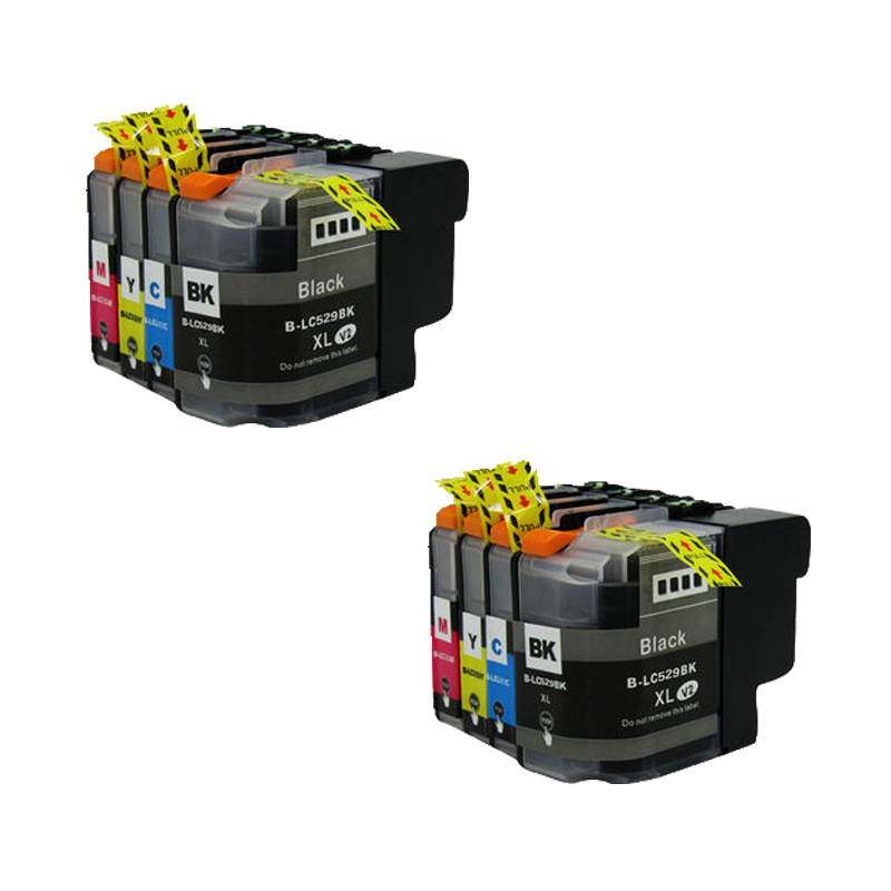 High Quality Full Ink Cartridge 8pcs For Brother LC529 For DCP J100 DCP J105 MFC J200 Compatible Ink Cartridge