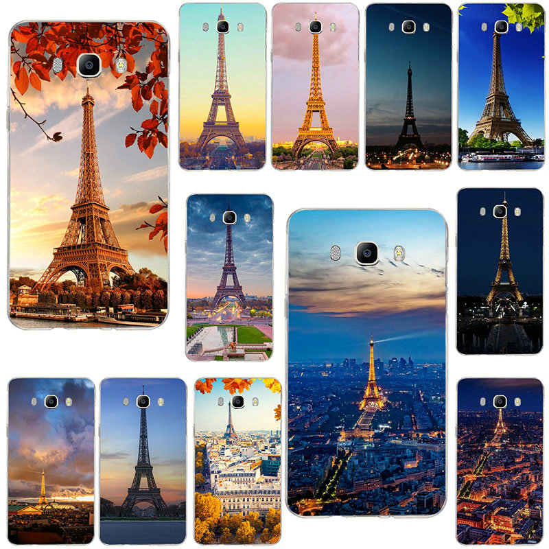 Eiffel Tower France Paris Soft <font><b>Cases</b></font> For Samsung Galaxy Note 2 3 4 5 8 9 10 A10 A20 A30 A40 A50 A60 A70 A80 A90 Pro image