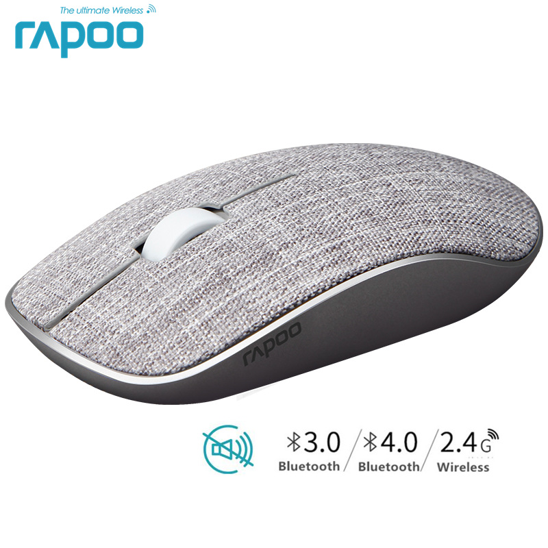 Novo rapoo m200plus multi-modo silencioso mouse sem fio com 1300 dpi bluetooth 3.0/4.0 rf 2.4 ghz para três dispositivos de conexão