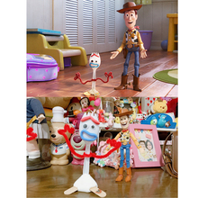 1~100pcs Cute Action figure toy 14cm Diy Forky Buzz Lightyear Toy Story 4 Cartoon Woody Jessie Dog Doll toys for children