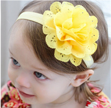 Newborn floral Headwear  hairband Gift Toddlers baby girl headband Infant hair accessories clothes band flower стоимость