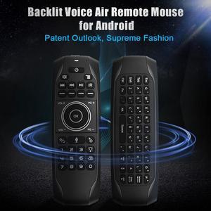 Image 2 - G7 v pro blacklit controle remoto giroscópio mouse de ar sem fio com microfone para x96 mini h96 max t95q tx6 android caixa tv
