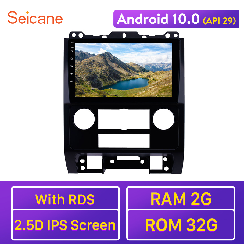 Seicane RAM 2GB ROM 32GB Car Radio Stereo Android 10.0 <font><b>GPS</b></font> Navi Unit Player 2.5D IPS for <font><b>Ford</b></font> <font><b>Escape</b></font> 2007 2008 <font><b>2009</b></font>-2011 2012 image
