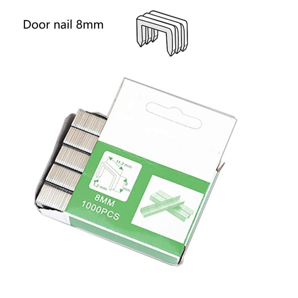 1000 pièces U Nail T clou porte ongles agrafes porte en forme d'agrafes manuel clou agrafeuse pistolet pour meubles en bois usage domestique clou