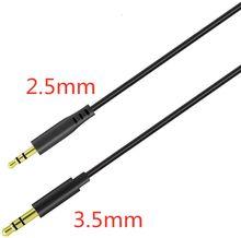 3.5mm aux cabo macho para 2.5mm jack macho aux áudio estéreo fone de ouvido cabo de cabo de áudio 3.5mm aux para fone de ouvido do telefone