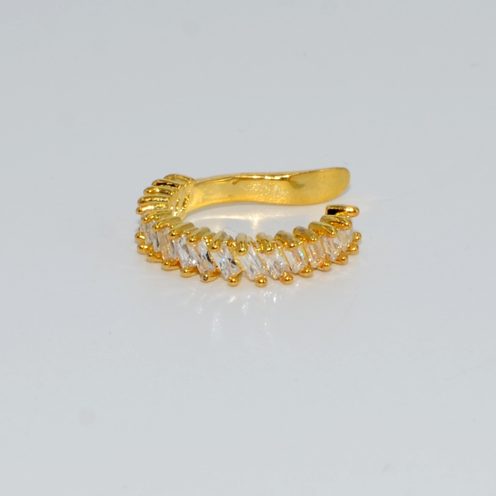 1PC Gold & Silver Color Ear Cuff Micro Pave CZ Zircon No Hole Non-Pieced No Piercing Small Sized Girl Clip Earring Jewelry