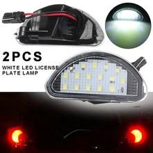 2 uds 15 SMD LED Auto número de licencia Placa de luz blanca de la lámpara 6000K para Toyota Aygo MK 2005-2014 DIY Accesorios