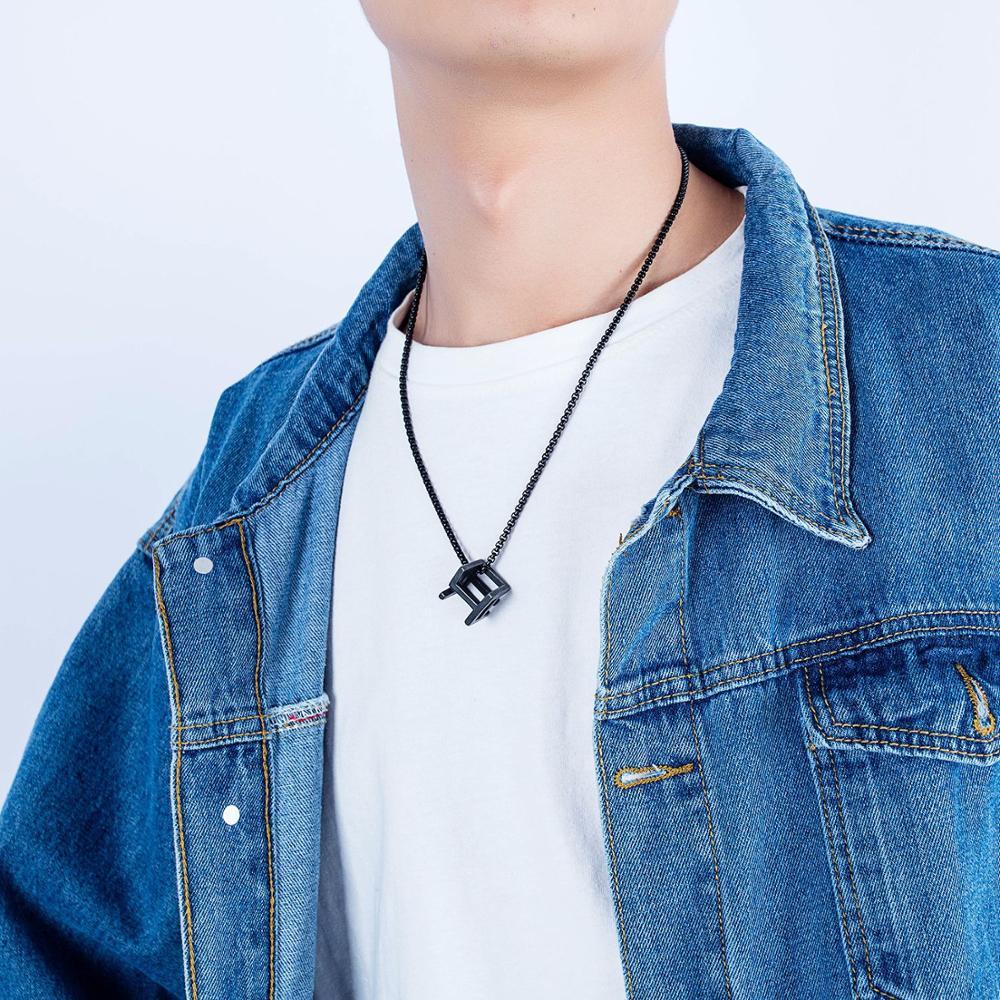 Marque hommes collier japon corée personnalisé pendentifs creux mode hommes femmes collier mode simple couple bijoux punk tiff