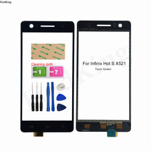Mobile Touch Screen For Infinix HOT S X521 Touch Screen Digitizer Front Glass TouchScreen Tools Adhesive
