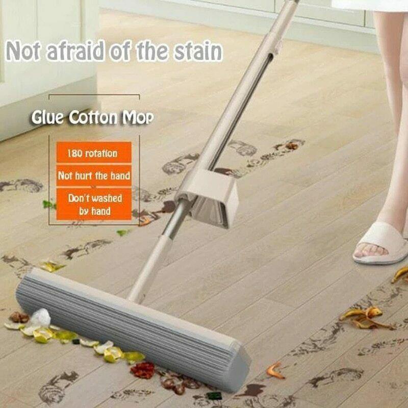 Klej Mop bawełniany 180 stopni wirowania wody chłonne regulowany domu narzędzie do czyszczenia podłogi Mop di cotone colla silne wchłanianie wody