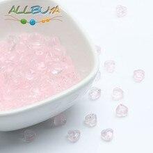 Rosa Trasparente del cuore Ceco Perle di Vetro per Monili Che Fanno FAI DA TE Orecchini Fatti A Mano Accessori Allentati Glassa Perle Di Vetro 6x6mm 20pc