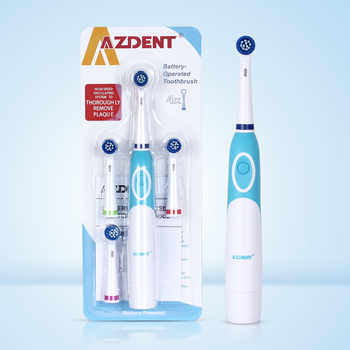AZDENT Hot Rotatory Electric Toothbrush with 4 Replacement Heads Deep Clean Battery Operated Tooth Brush Teeth Whitening Adults - discount item  46% OFF Personal Care Appliances