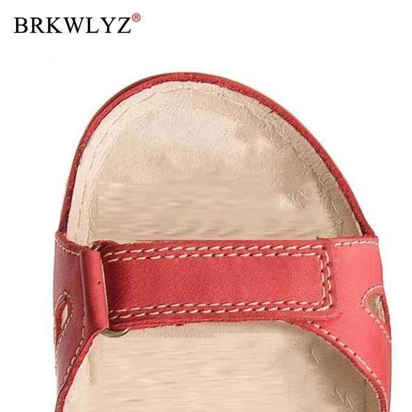 Mới 2019 2020 Mùa Hè Giày Sandal Nữ Phẳng Nữ Thoải Mái Mắt Cá Chân Rỗng Mũi Tròn Giày Đế Mềm Giày Sandalias Mujer 2019