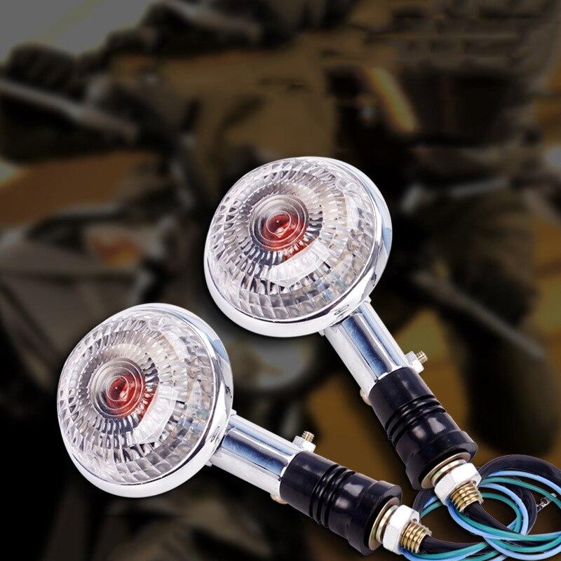Transparent Lens Turn Signal Light Replacement 2pcs Motorcycle Indicator