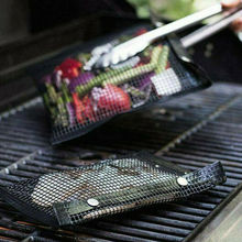 BBQ Accessories Non-Stick Washable Nonstick Mesh Barbecue Grilling Bag Basket Grill Net Mat Meat